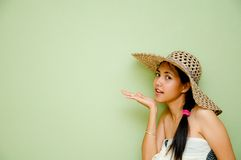Femme disant un secret Photographie stock libre de droits