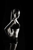 Femme discrète de forme physique Photo libre de droits