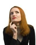 Femme doutante pensive d'affaires photos stock