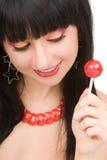 Femme doux avec la sucrerie Images stock