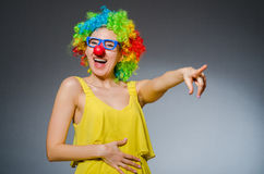 Femme drôle Photographie stock libre de droits