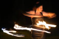 Femme du feu Photos stock