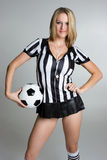 Femme du football Images stock