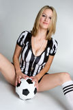 Femme du football Photo stock