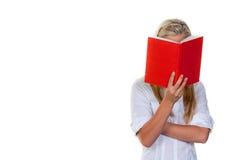 femme du relevé de livre Photo stock