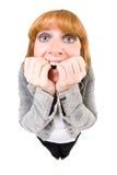 Femme effrayé Photo stock