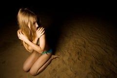 Femme effrayé Photo libre de droits
