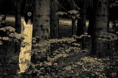 Femme effrayante d'horreur images stock