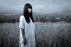 Femme effrayante d'horreur Image stock