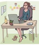 Femme - employé de bureau Image libre de droits