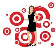 Femme en cercles Photo stock