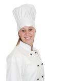 Femme en chef de cuisinier Images stock