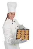 Femme en chef de cuisinier Photo stock