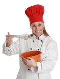 Femme en chef de cuisinier Photo libre de droits