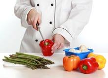 Femme en chef de cuisinier Image libre de droits