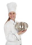 Femme en chef de cuisinier Image stock