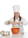 Femme en chef de cuisinier Images libres de droits