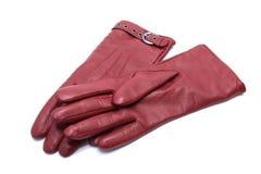 femme en cuir de paires de gants Photos stock