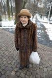 Femme en fourrure s'usante de la Pologne Photos libres de droits