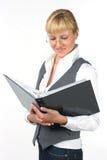 Femme en glaces avec des documents Image libre de droits
