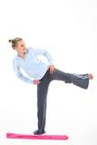 Femme en gymnastique images stock