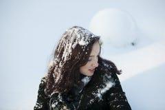 Femme en hiver Images libres de droits