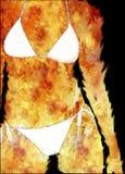 Femme en incendie Images libres de droits