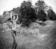Femme en nature Photographie stock libre de droits