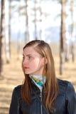 Femme en parc. Photos stock