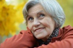 Femme en parc d'automne Images libres de droits