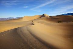 Femme en photographiant des vagues de sable Images stock
