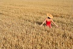 Femme en rouge Image libre de droits