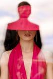 Femme en rouge Photos libres de droits