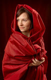 Femme en rouge Photo libre de droits