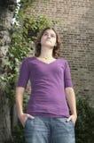 Femme en stationnement Photo libre de droits