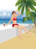 Femme en vacances Images libres de droits