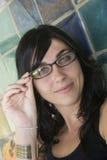 Femme en verre Photographie stock libre de droits