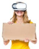 Femme en verres de VR Images libres de droits