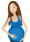 Femme enceinte illustration libre de droits