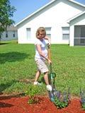 Femme enceinte 6 de jardinage Images stock