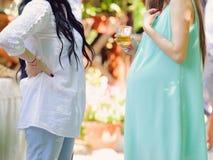Femme enceinte avec l'ami Images libres de droits