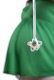 femme enceinte balançante de simulacres image libre de droits
