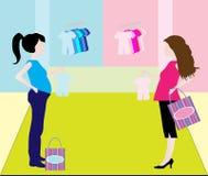 Femme enceinte d'achats illustration de vecteur