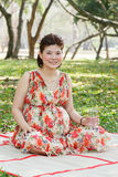 Femme enceinte d'Asiatique Photo stock