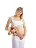 Femme enceinte d'isolement Photos stock
