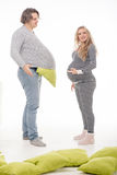 Femme enceinte de mode avec le mari Photo libre de droits