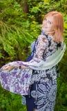 Femme enceinte en bois Photo stock