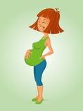 Femme enceinte en douleur illustration libre de droits