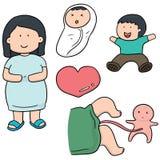 Femme enceinte et chéri Images libres de droits