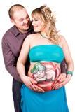 Femme enceinte et homme heureux Photos libres de droits